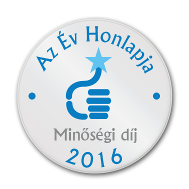 Az év honlapja minőségi díj 2016
