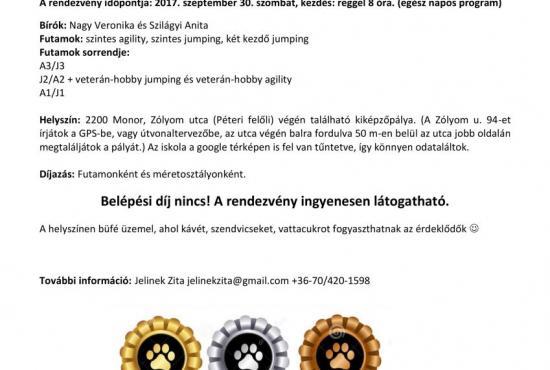 Monor Kupa ŐSZ - agility verseny