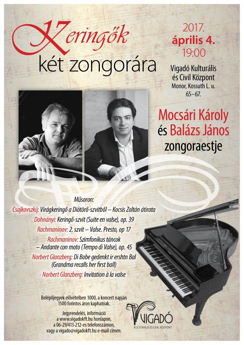 Keringők két zongorán - Mocsári Károly és Balázs János zongoraestje