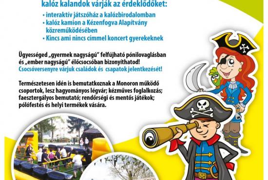 KALÓZ KALAND - Monor Városi Gyereknap