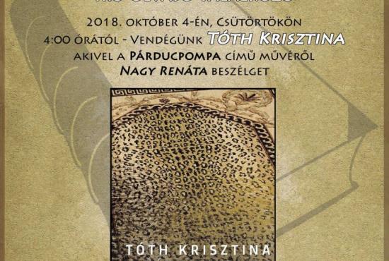 Író-olvasó találkozó Tóth Krisztinával