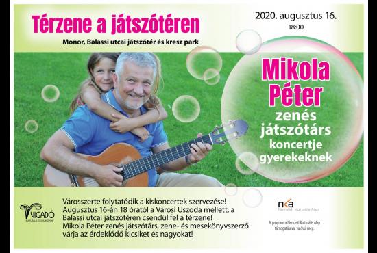Térzene a játszótéren - Mikola Péter kiskoncertje gyerekeknek