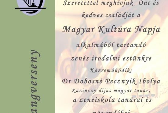 Hangverseny a Magyar Kultúra Napja alkalmából
