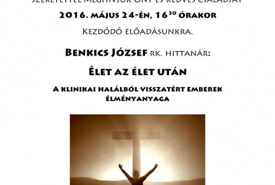 Benkics József előadása