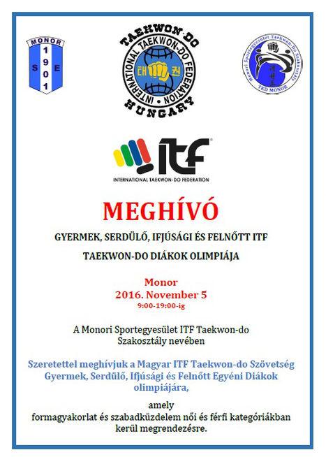 ITF Taekwon-do egyéni diákok olimpiája