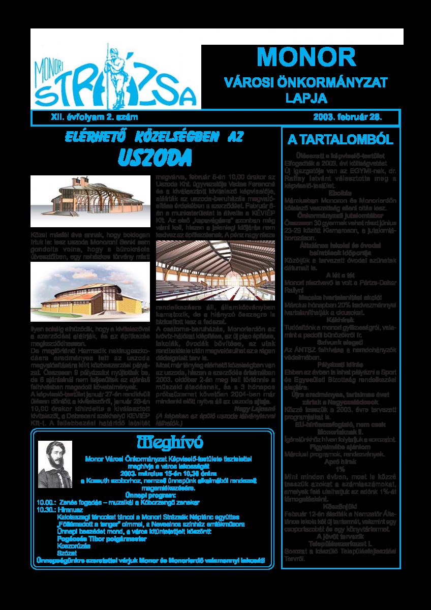 Strázsa újság, 2003 2. szám