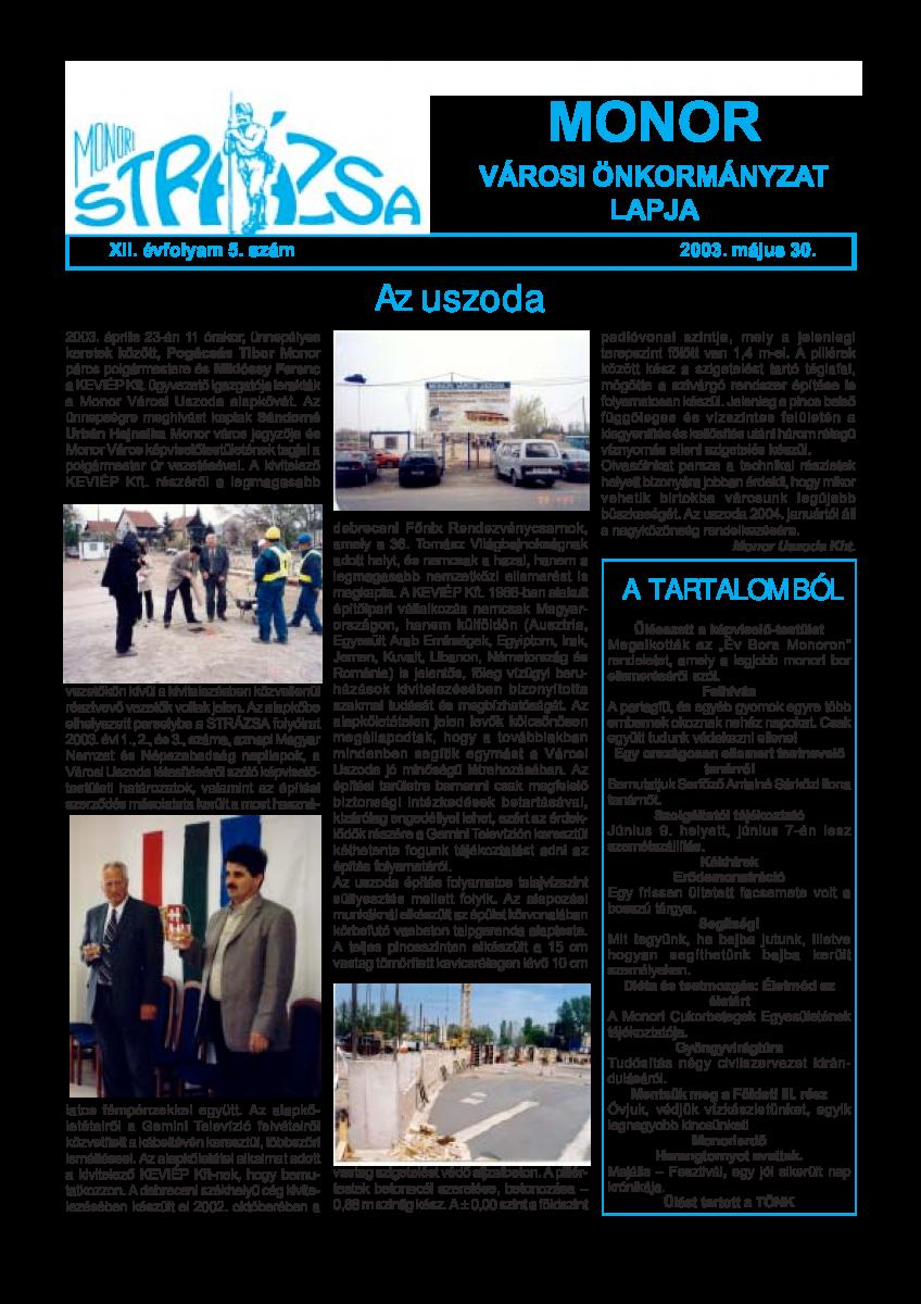 Strázsa újság, 2003 5. szám