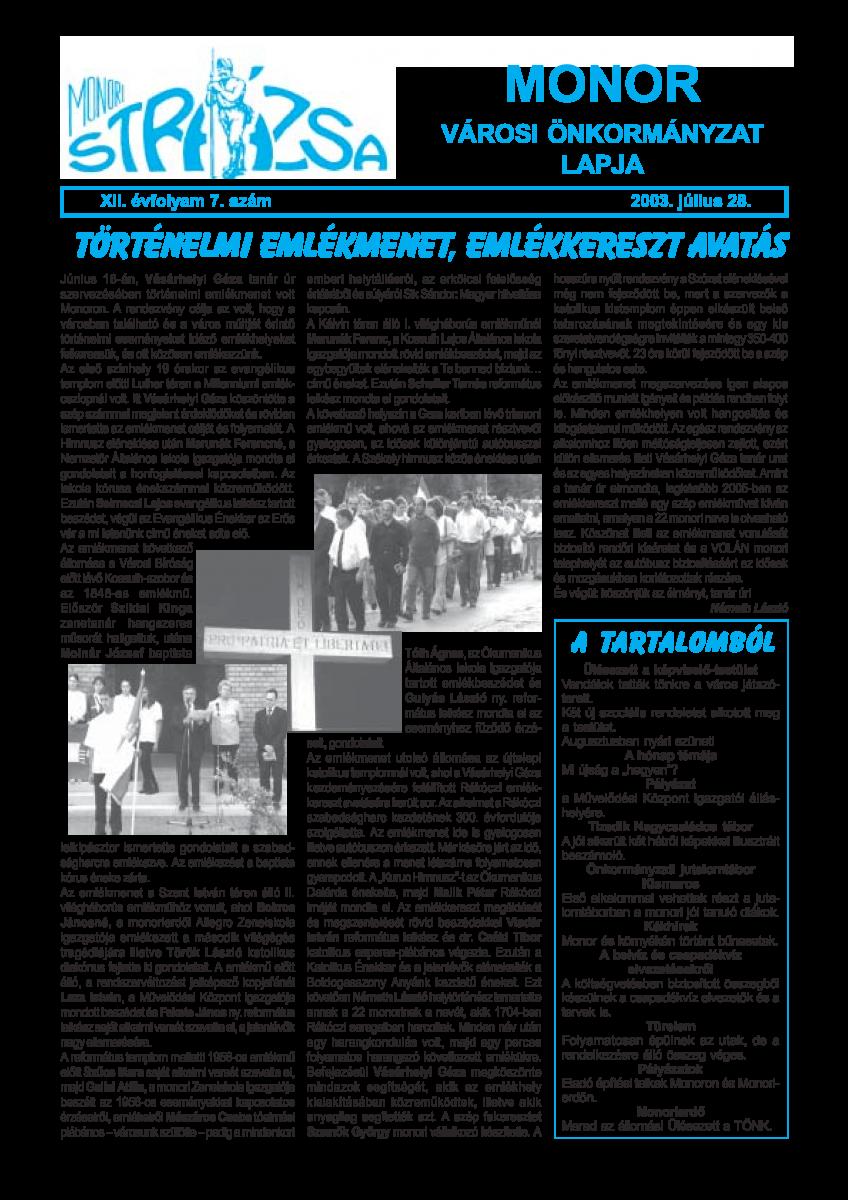 Strázsa újság, 2003 7. szám