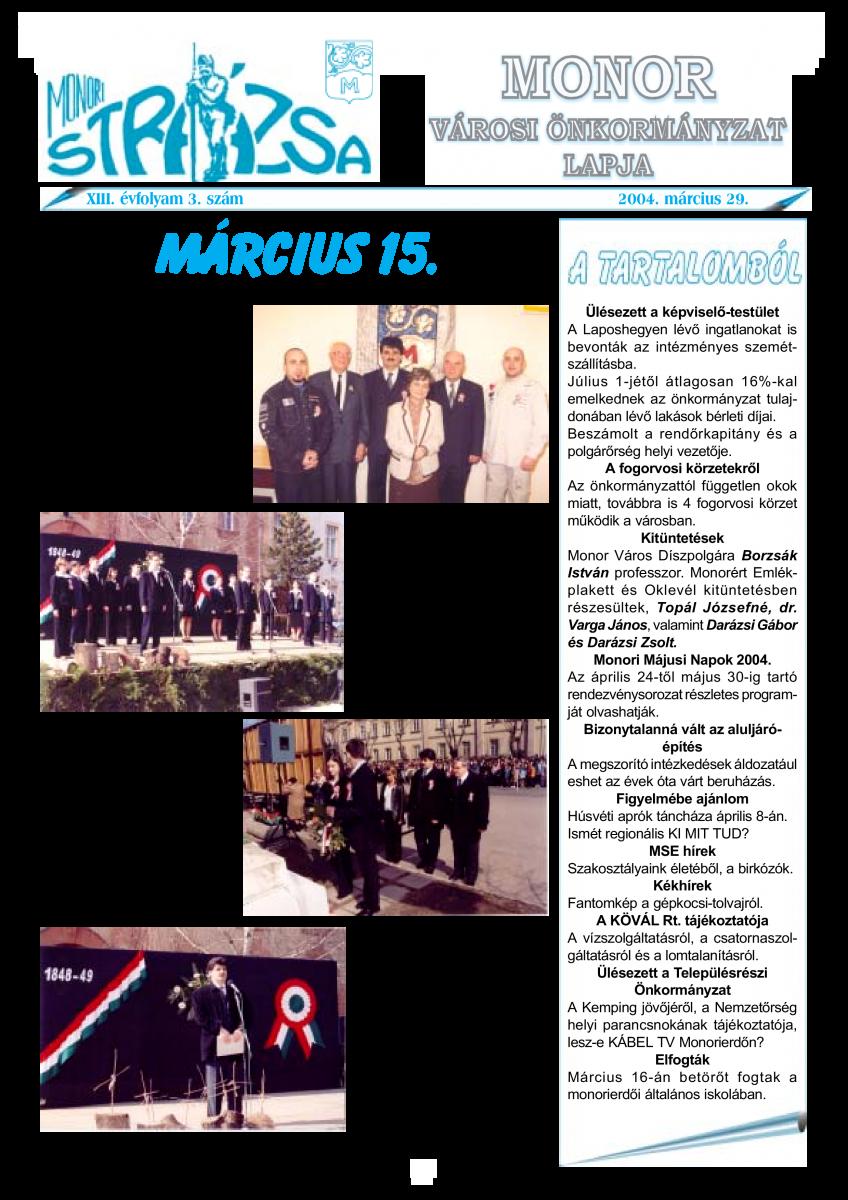 Strázsa újság, 2004 3. szám