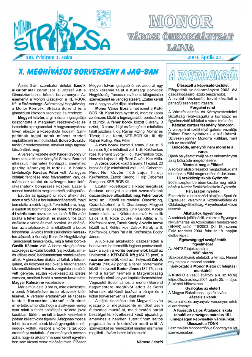 Strázsa újság, 2004 4. szám