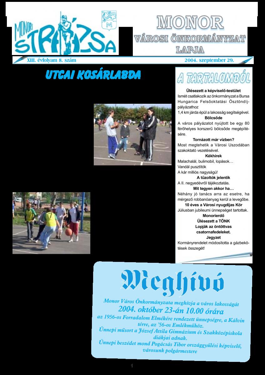 Strázsa újság, 2004 9. szám