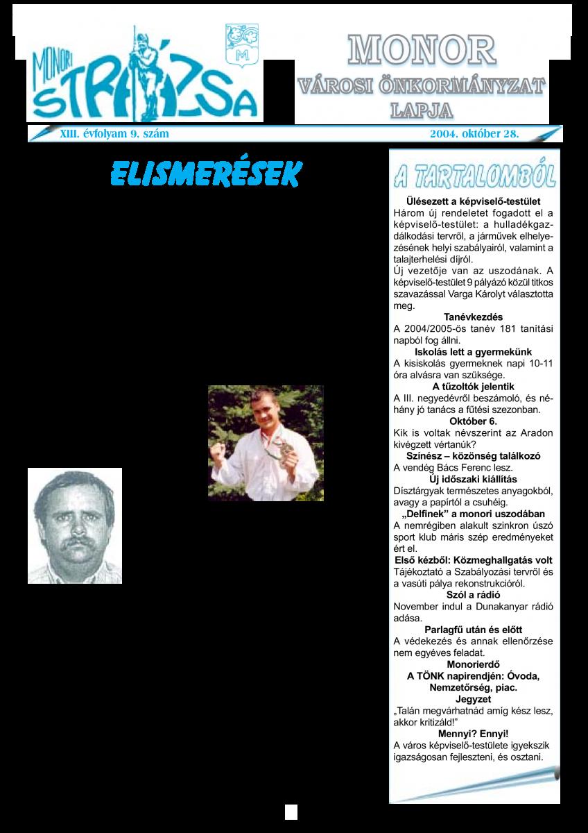 Strázsa újság, 2004 10. szám