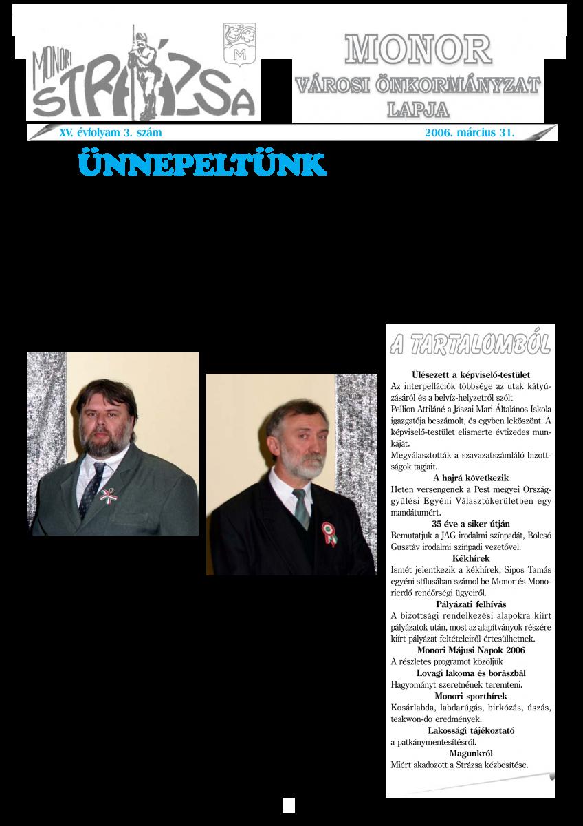 Strázsa újság, 2006 3. szám