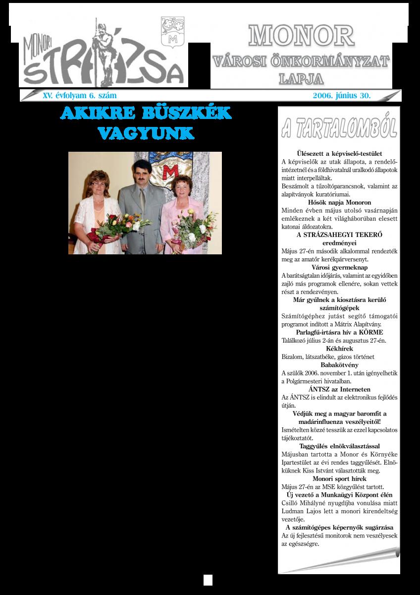 Strázsa újság, 2006 6. szám