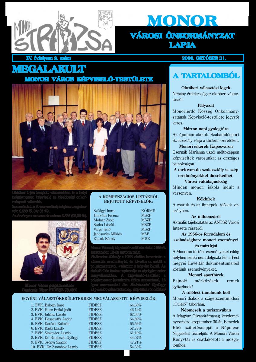 Strázsa újság, 2006 10. szám