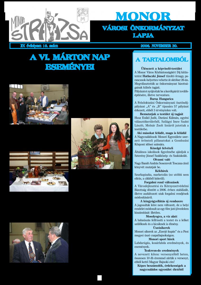 Strázsa újság, 2006 11. szám