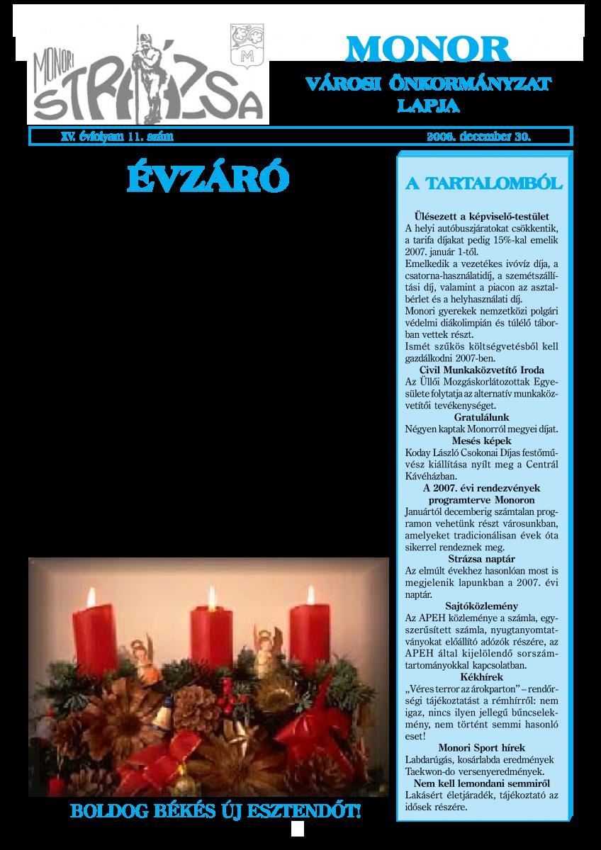 Strázsa újság, 2006 12. szám