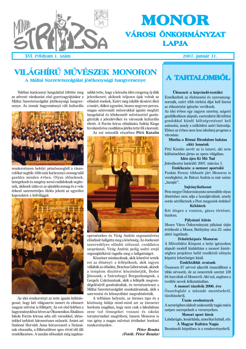Strázsa újság, 2007 1. szám