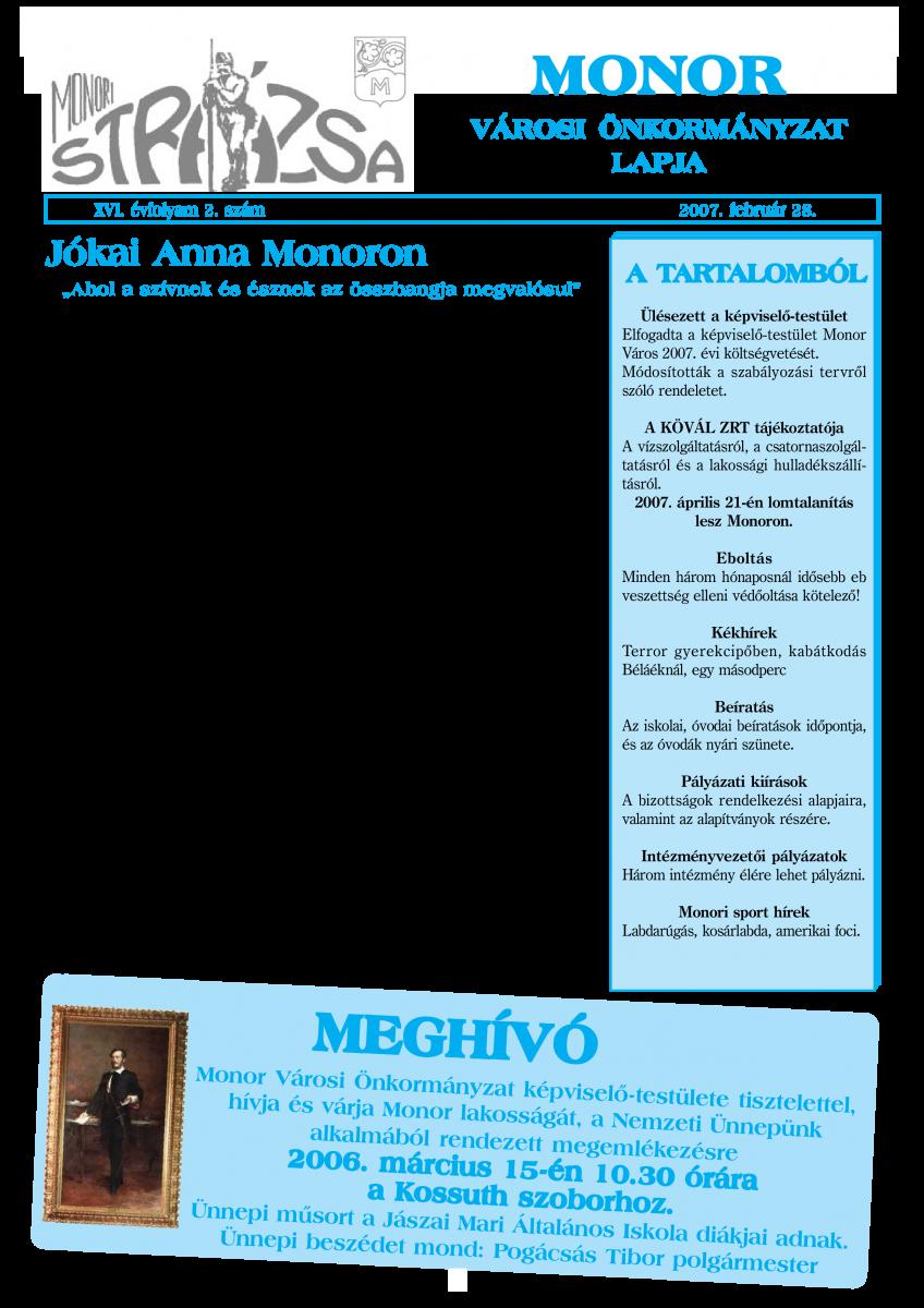 Strázsa újság, 2007 2. szám