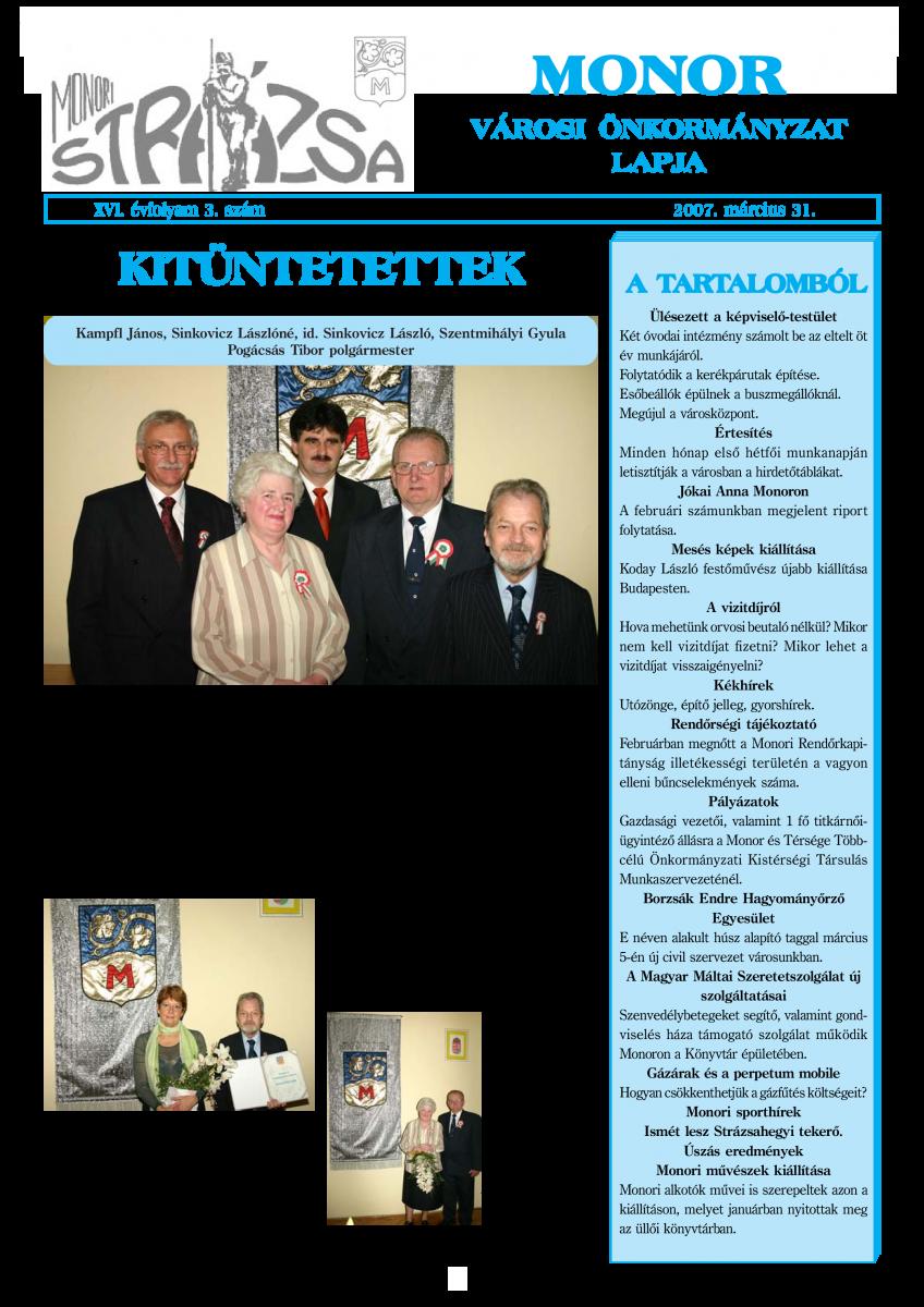 Strázsa újság, 2007 3. szám