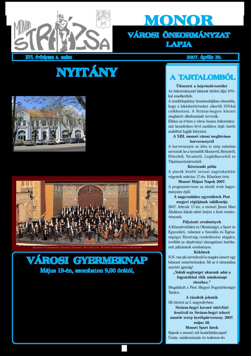 Strázsa újság, 2007 4. szám