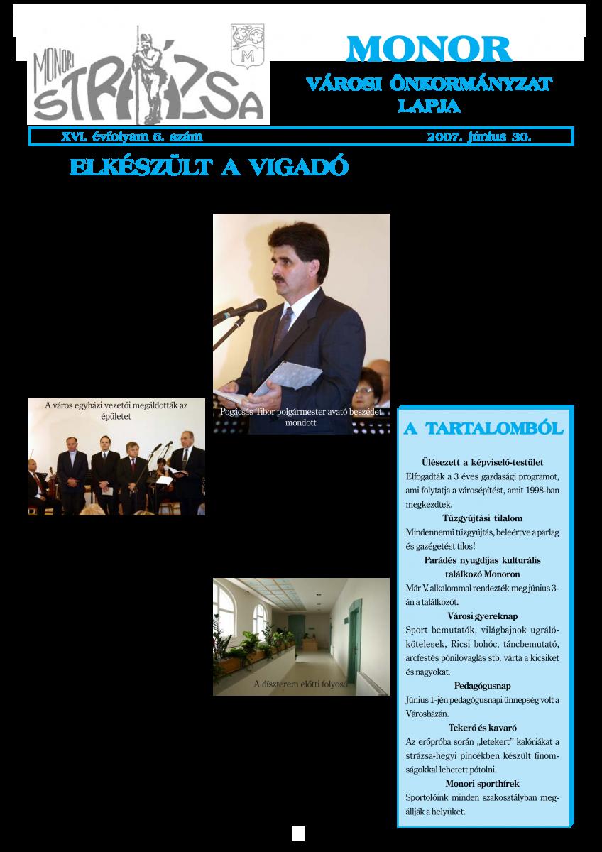 Strázsa újság, 2007 6. szám