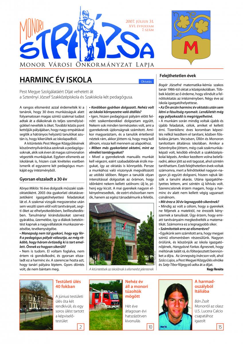 Strázsa újság, 2007 7. szám