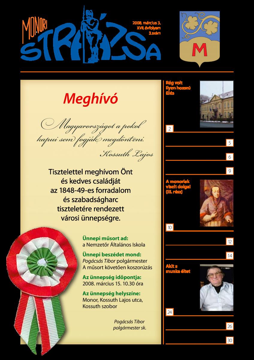 Strázsa újság, 2008 3. szám