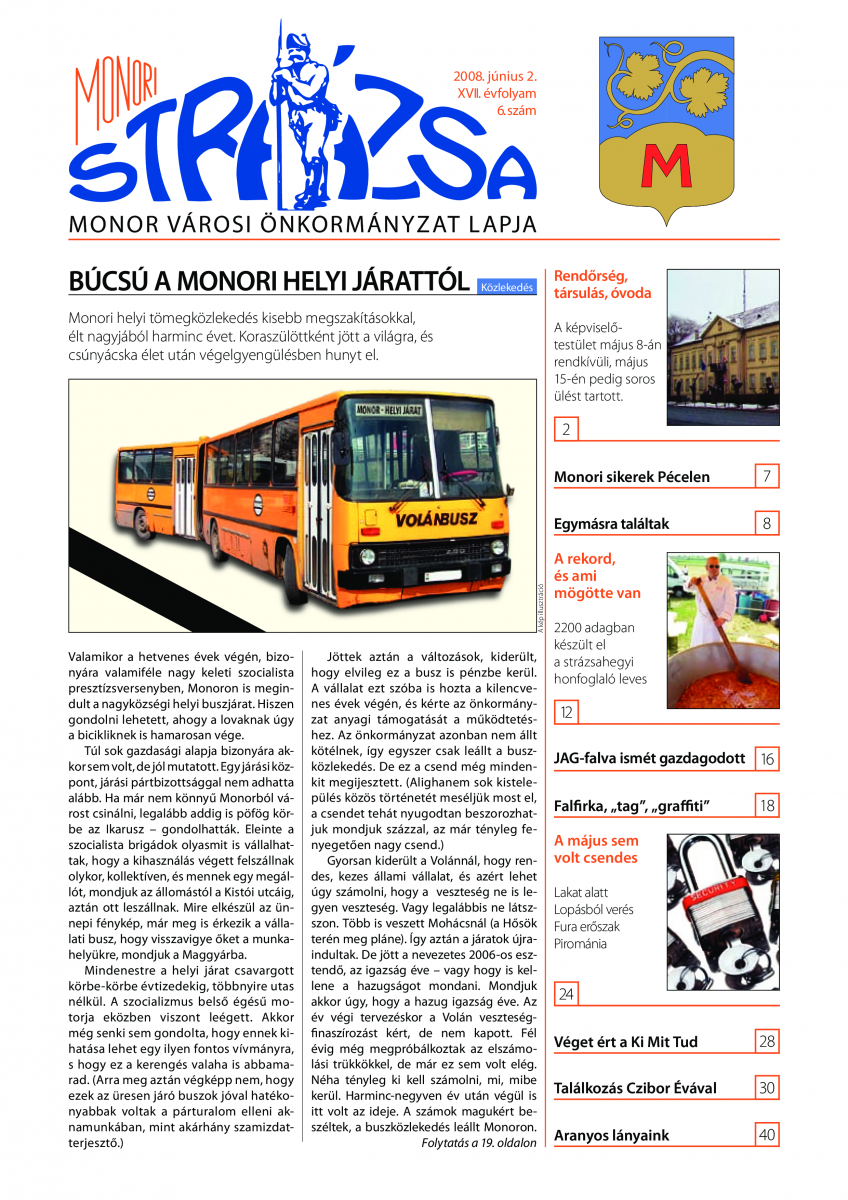 Strázsa újság, 2008 6. szám
