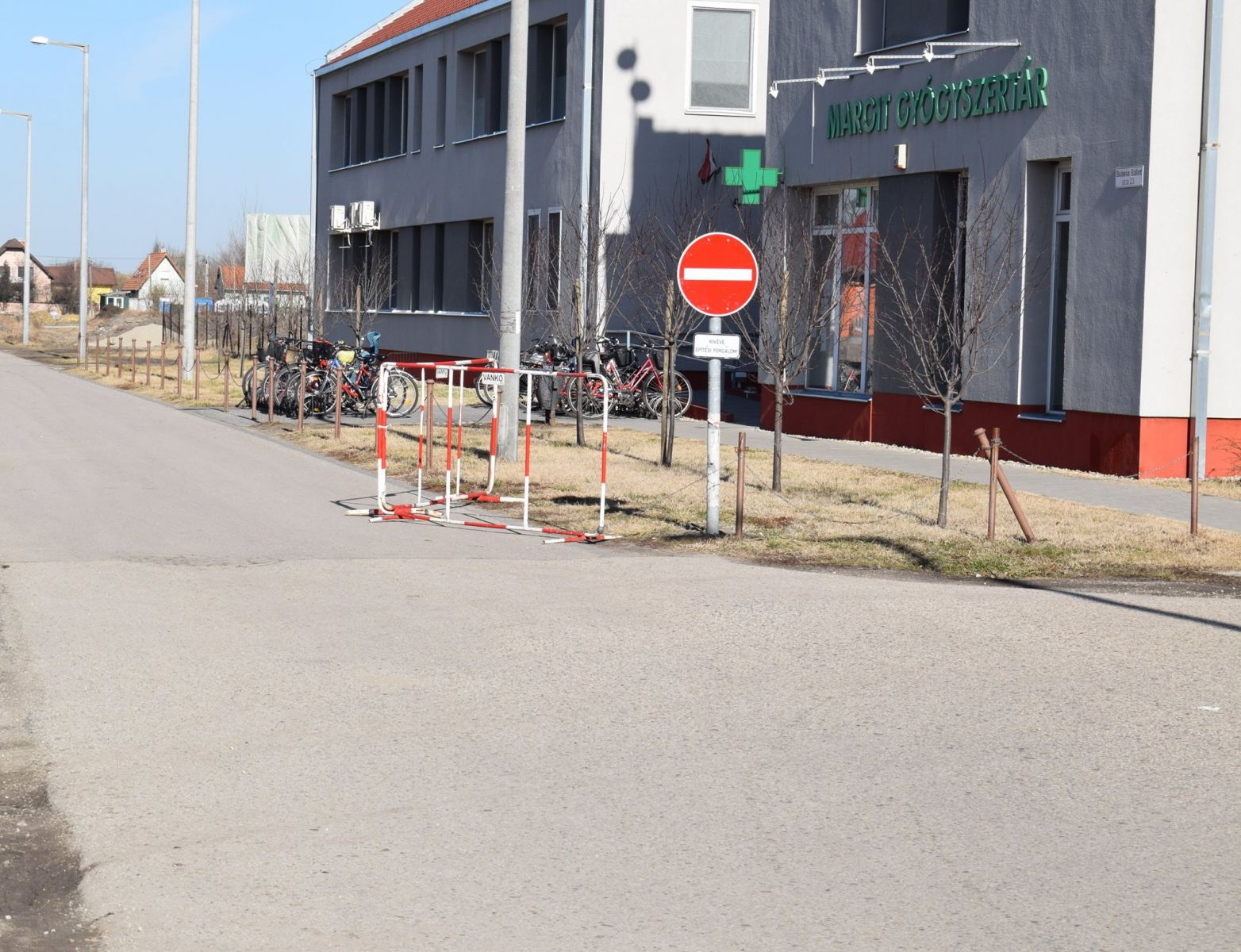 Forgalmi rend változás a sportcsarnok építési területének közelében