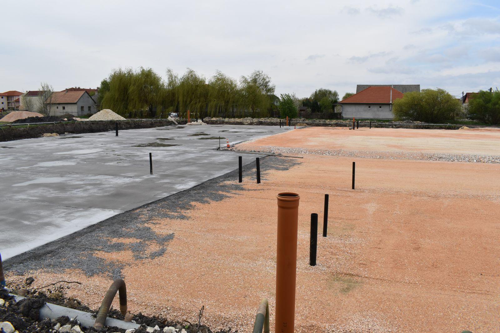 Megkezdődött a városi sportcsarnok alapozása