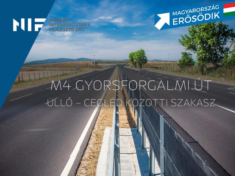 Február 7-én adják át az M4-es gyorsforgalmi út Monort elkerülő szakaszát