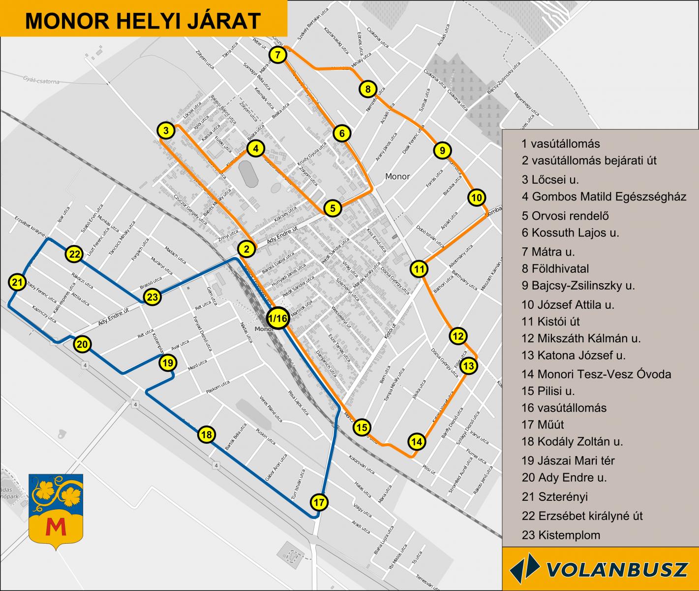 Június 16-tól módosul a helyi járat útvonala