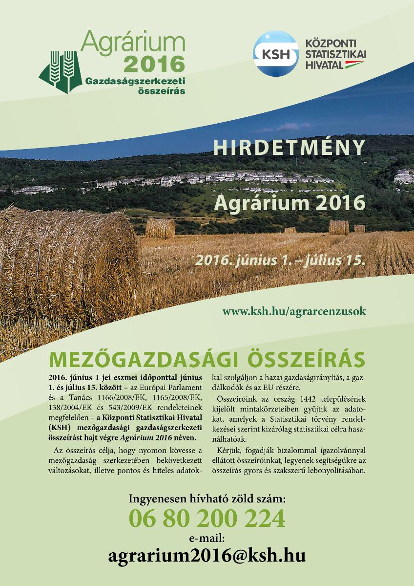 Mezőgazdasági összeírás