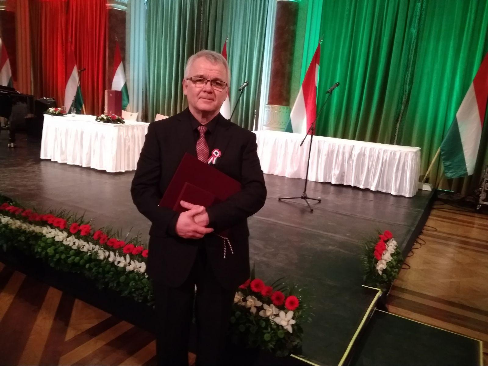 Liszt Ferenc-díjat vehetett át Mocsári Károly zongoraművész