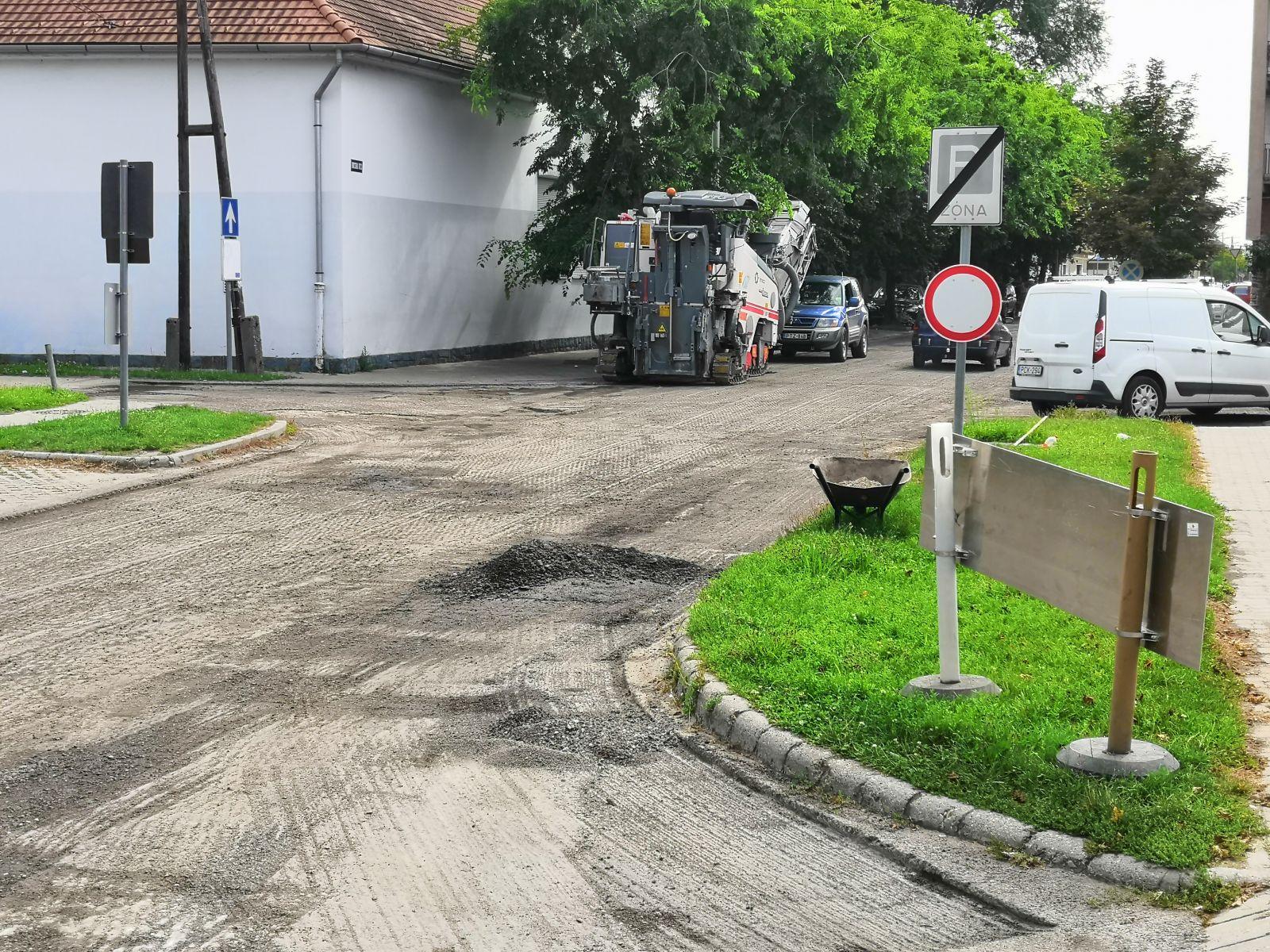 Felújítás miatt forgalomkorlátozások a Bocskai utcában