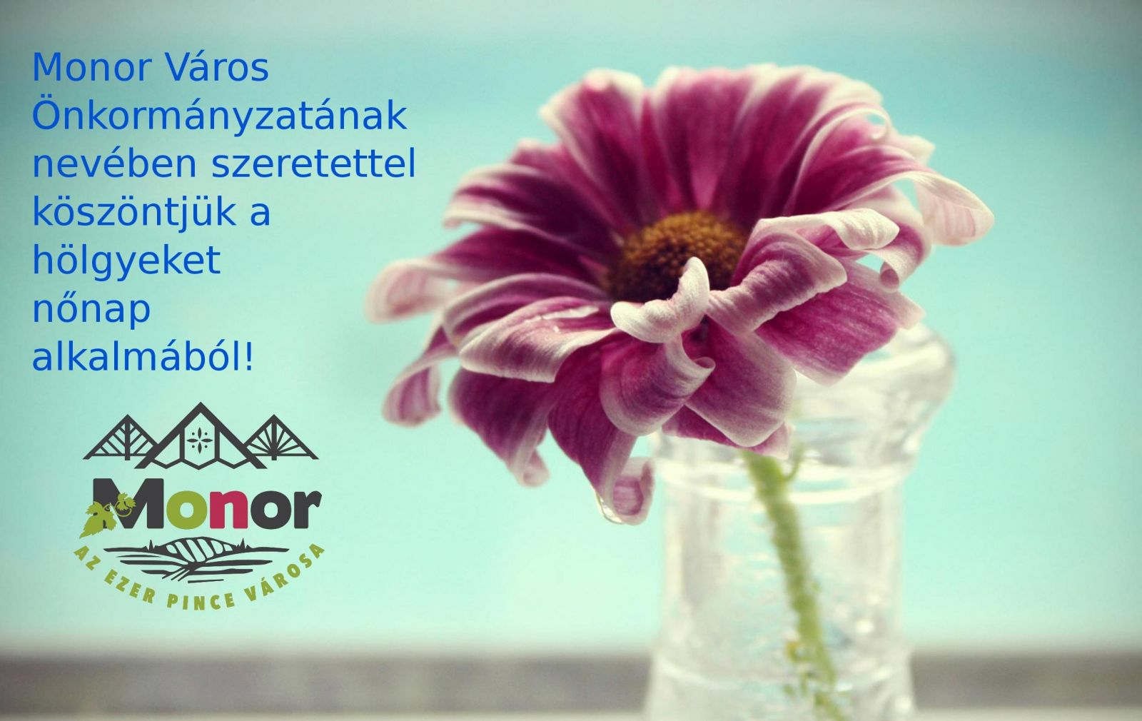 Monor Város Önkormányzatának nevében szeretettel köszöntjük a hölgyeket nőnap alkalmából