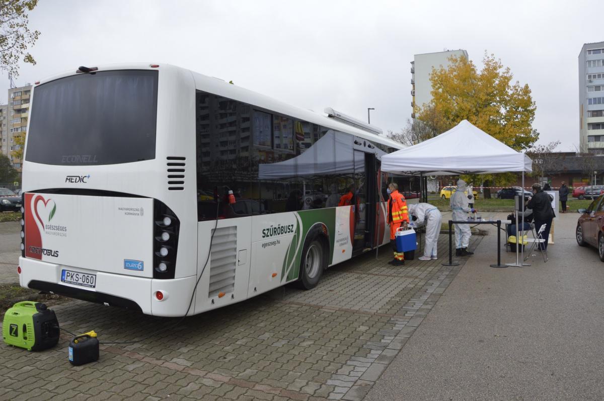 Harmadszor is Monoron lesz a COVID szűrőbusz