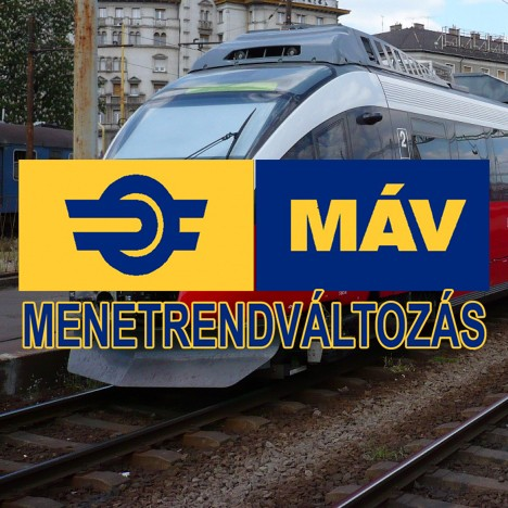 Változások a vasúti menetrendben