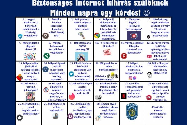 Kihívjuk a szülőket! - rendőrségi kampány a biztonságos internethasználat érdekében