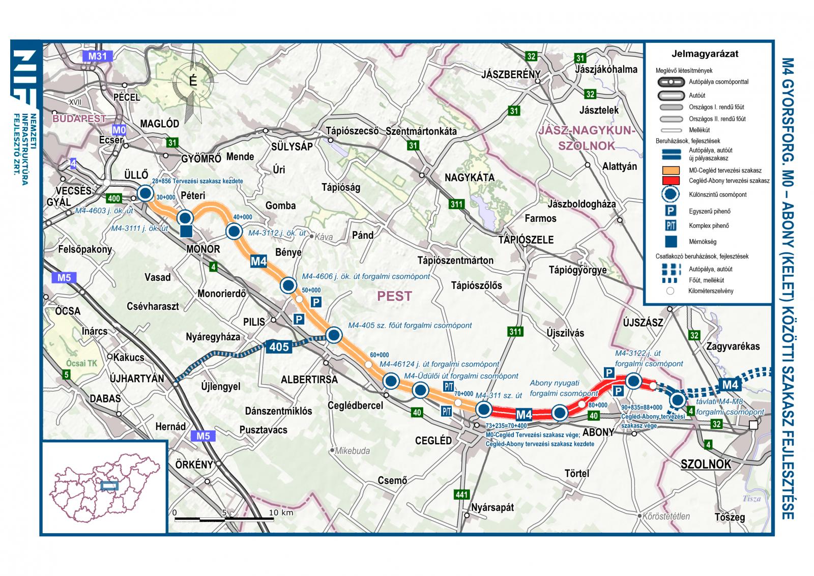 Akár már idén elkezdődhet az M4 gyorsforgalmi út építése