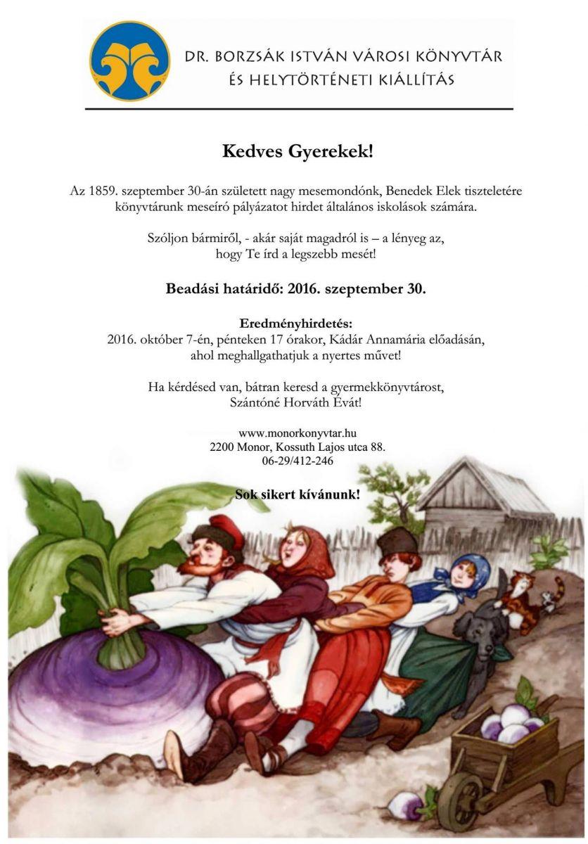 Meseíró pályázatot hirdet a Dr. Borzsák István Városi Könyvtár