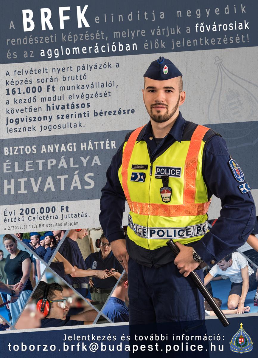 A Budapesti Rendőr-főkapitányság OKJ-s képzést indít