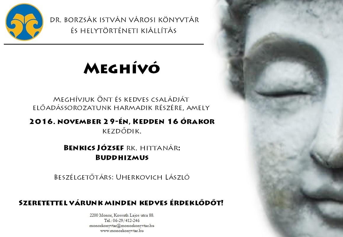 Benkics József: Buddhizmus című előadása