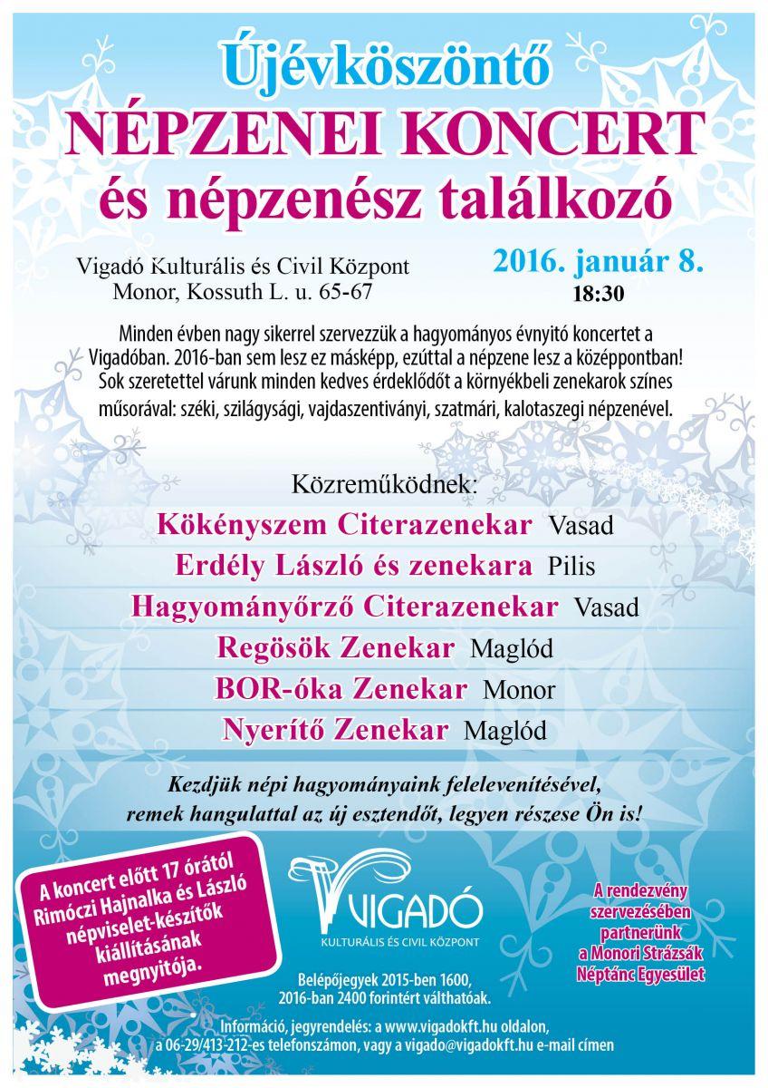 Újévköszöntő népzenei koncert és népzenész találkozó