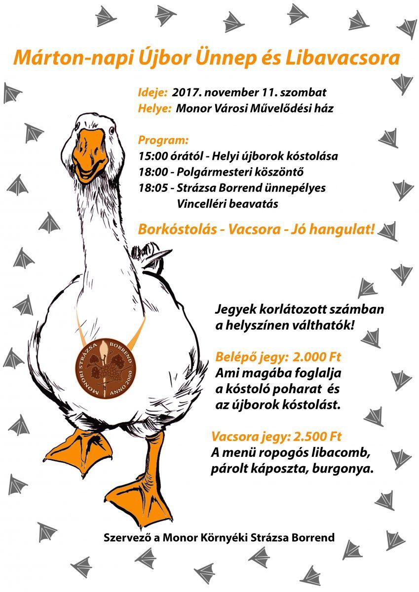 Márton-napi Újbor Ünnep és Libavacsora