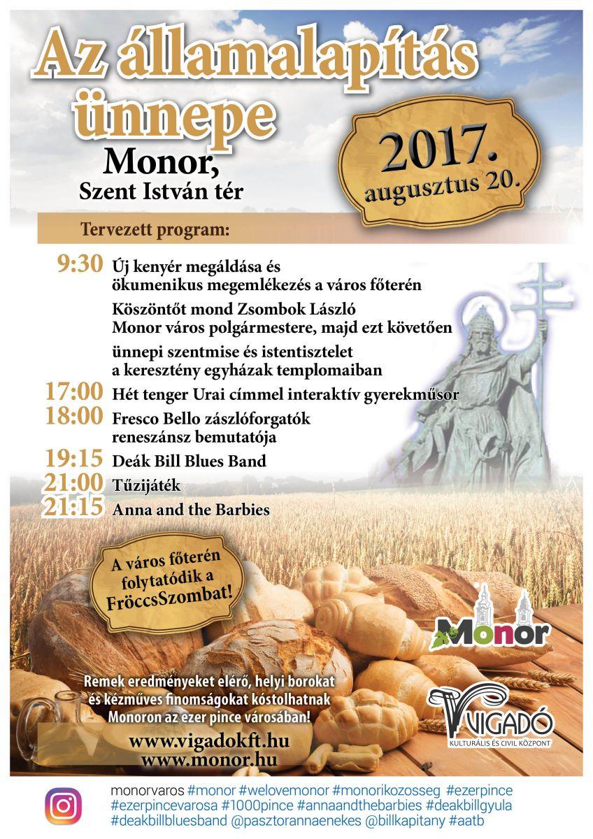 Az államalapítás ünnepe Monoron