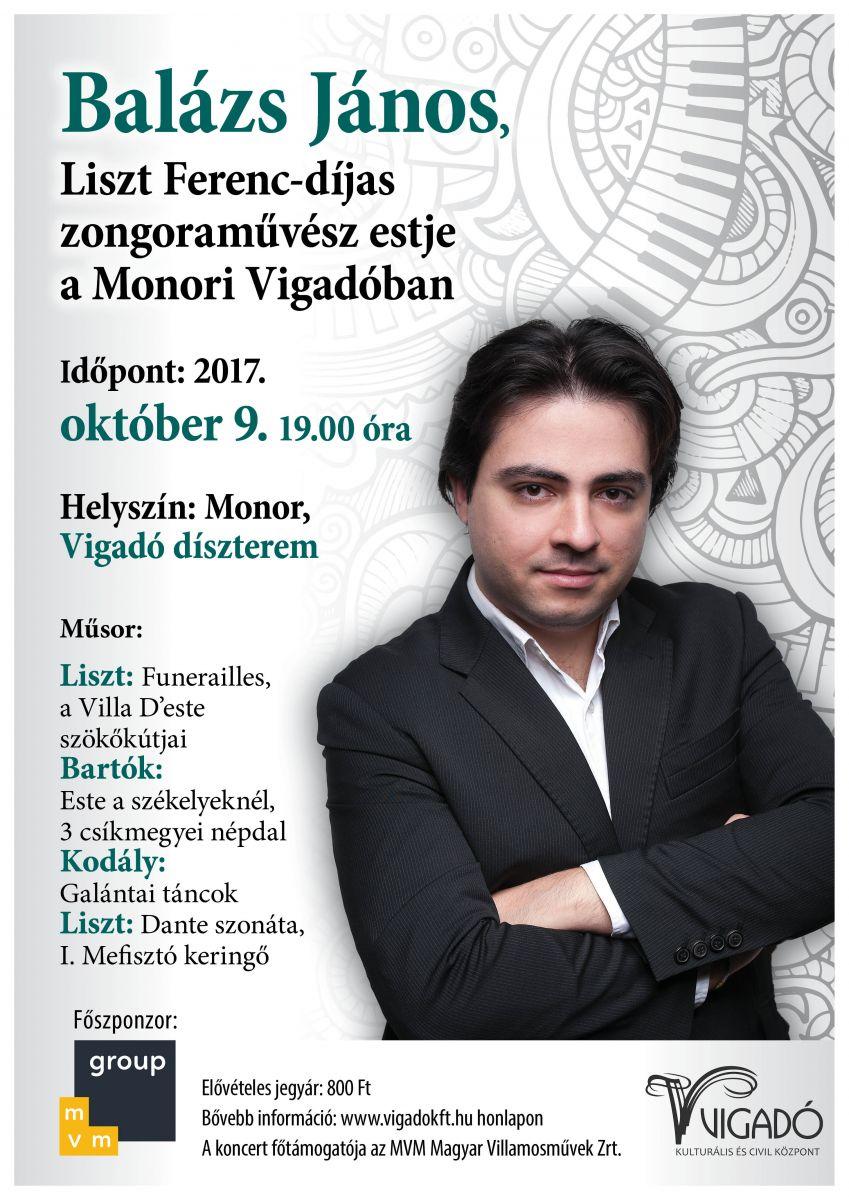 Balázs János zongoraművész estje