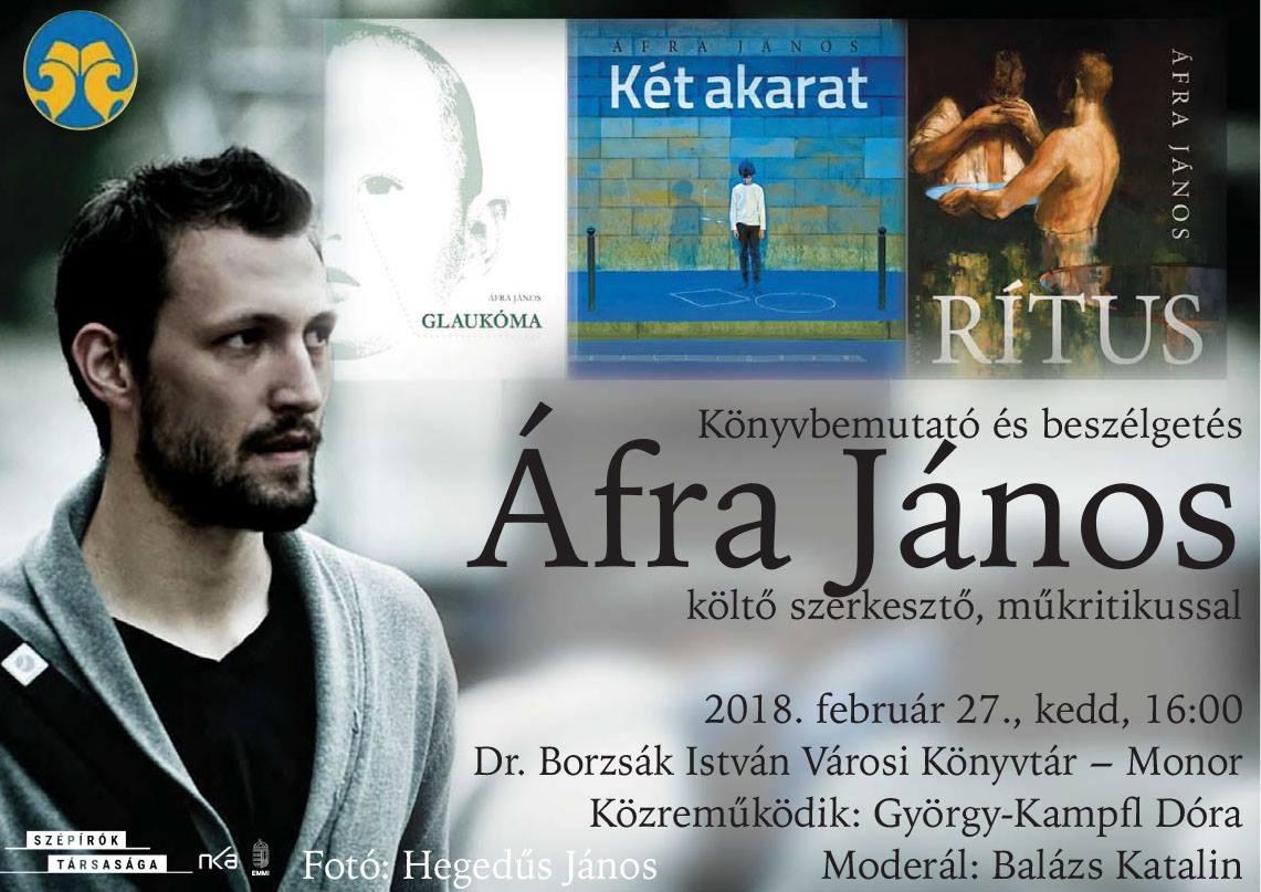 Könyvbemutató és beszélgetés Áfra Jánossal
