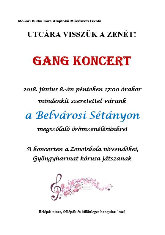 GANG koncert a Monori Budai Imre Alafokú Művészeti Iskola szervezésében